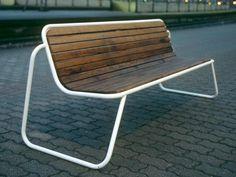 Bench with back FUNC by VESTRE   design Espen Voll, Tore Borgersen, Michael Olofsson
