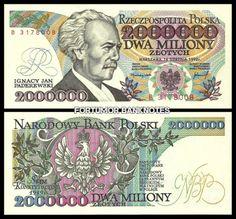 Old Polish Notes Money Worksheets, Money Notes, Retro, Childhood Memories, Stamp, World, World Coins, Seals, Money