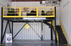 Garage Storage With Mezzanine
