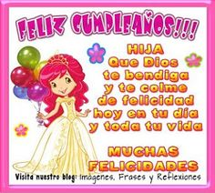 Imagenes de cumpleanos para una hija especial Birthday Messages, Princess Peach, Cards, Club, Google, Happy Birth Day, Birthday Wishes For Son, Happy Birthday Captions, Birthday Msgs