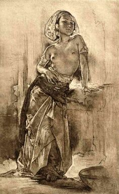 Artwork by Willem Gerard Hofker, Ni Kenjoen, Bali, Made of etching Arte Do Pulp Fiction, Bali Painting, Indonesian Art, Erotic Art, Figure Drawing, Traditional Art, Asian Art, Cool Drawings, Female Art