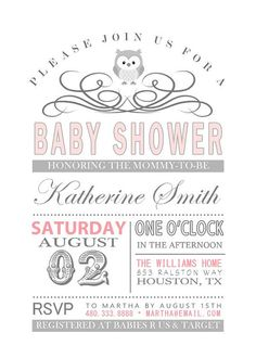 Old Fashioned Baby Shower Invitation by RoughElegance on Etsy