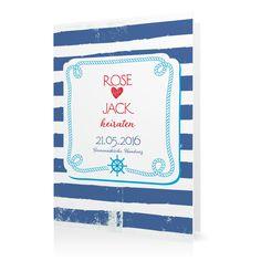 Hochzeitseinladung Maritim in Kornblume - Klappkarte hoch #Hochzeit #Hochzeitskarten #Einladung #Foto #modern https://www.goldbek.de/hochzeit/hochzeitskarten/einladung/hochzeitseinladung-maritim?color=kornblume&design=d265c&utm_campaign=autoproducts
