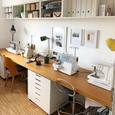 Sewing room furniture - 50 Most Popular Craft Room Sewing Decor Ideas – Sewing room furniture Ikea Sewing Rooms, Small Sewing Rooms, Sewing Room Furniture, Small Craft Rooms, Sewing Room Storage, Sewing Room Organization, Craft Room Storage, Sewing Spaces, Sewing Office Room