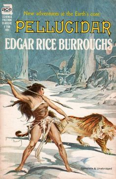 Roy G. Krenkel - art for Pellucidar by Edgar Rice Burroughs - 1962 Ace F-158