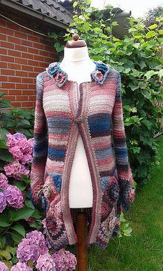 Rozen granny vest (Roses granny cardigan) free crochet pattern ~ k8 ~