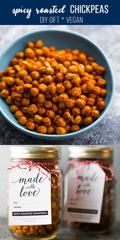 Spicy roasted chickpeas that you can make in the oven or your air fryer! My fool-proof method for the CRISPIEST roasted chickpeas in either the oven or the air fryer. Chickpea Snacks, Chickpea Recipes, Spicy Recipes, Quinoa, Healthy Snacks, Vegetarian Recipes, Cooking Recipes, Healthy Holiday Recipes, Oven Roasted Chickpeas
