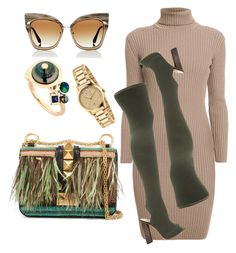 """Untitled #66"" by thestylesnitch on Polyvore featuring Dita, Gucci, Rumour London, YEEZY Season 2, BIBI VAN DER VELDEN and Valentino"