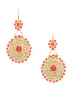 Sunburst Drop Earrings