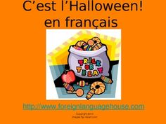 This French Halloween Powerpoint is such a versatile material for all levels of language proficiency and ages. Bring the fun of Halloween in to you. Language Proficiency, French Grammar, French Immersion, French Class, Grace, Teaching French, Teaching Tools, Halloween Crafts, Festivals