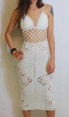 Crochet Granny Square Dress Pattern by GuChet