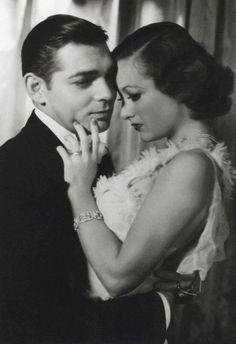 Clark Gable Joan Crawford 1933 (She didn't seem like she was mean here. Clark oh, sooo handsome!)