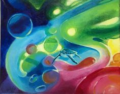 Original painting sea turtle abstract water earth elemental art listed by artist #Abstract