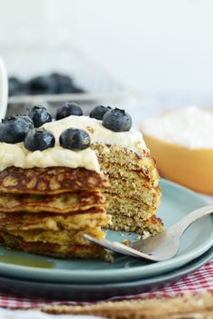 Grain Free Applesauce Pancakes a high protein breakfast that's #glutenfree and #paleo via FitFoodieFinds.com