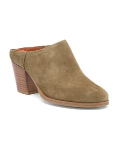 a97103428b2b Made In Spain Suede Mules - Fall Shoe Trends - T.J.Maxx. Mules ShoesHeeled  ...