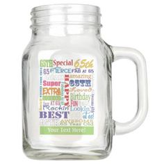 Unique And Special 65th Birthday Party Gifts Mason Jar - patterns pattern special unique design gift idea diy
