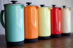 ceramic french press... Love the creamy colors!