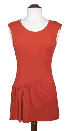 Asymmetrical Ruched Tank by gadogado $24