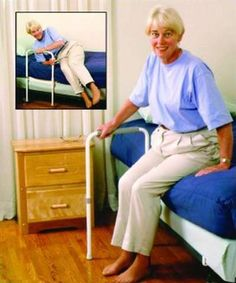 Smart-Rail Leg Extenders can unlock and pivot outwards to provide a better standing and transferring support, $63.99
