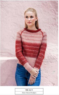 Ravelry: Genser pattern by Rauma Designs Fair Isle Knitting, Knitting Yarn, Textiles, Sewing Leather, Knitwear Fashion, How To Purl Knit, Cool Sweaters, Knit Sweaters, Cardigan Pattern