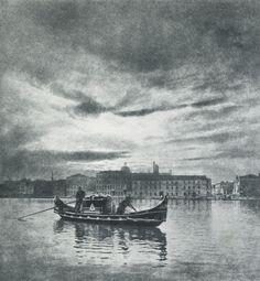 Die Kunst in der Photographie : 1900 Photographer: Dr. H. Müller-Schönau Title: Letzte Heimfahrt