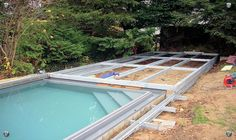 Sliding deck to cover pool when not in use! Perfect ...