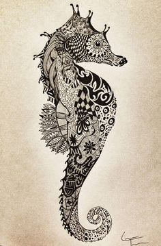 Seahorse- tattoo ide # view/buy temporarry tattoos here http://www.iosapps8.com/tattoo