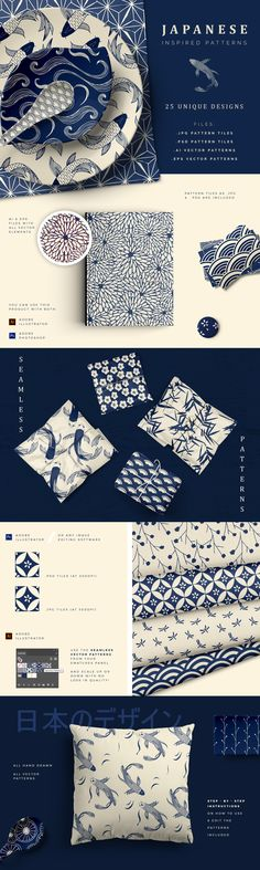 "Check out my @Behance project: ""Japanese Patterns"" https://www.behance.net/gallery/65610997/Japanese-Patterns"