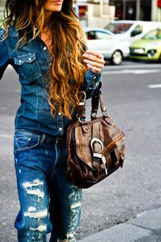 denim from top to bottom