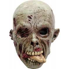 Homme Effrayant Effrayant vieil homme Ridé Overhead Latex Déguisement Masque neuf Halloween