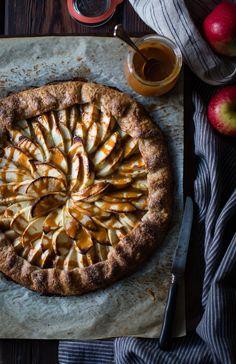 Apple Galette Rum Spiced Dulce de Leche {gluten-free}