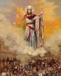 The Ascension of Christ Pictures Of Jesus Christ, Religious Pictures, Bible Pictures, Christian Paintings, Christian Art, Catholic Art, Religious Art, Christ The King, King Jesus