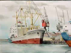 Tugboats, Nautical Art, Steamers, Ship Art, Sailing Ships, Painting, Paintings, Art, Ship