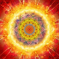 Let your light shine from the inside out!  #Mandala art