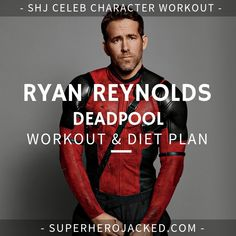 Ryan Reynolds Deadpool Workout Routine – How to get ripped like Deadpool and Green Lantern Get Ripped Diet, Get Ripped Workout, Shred Workout, Workout Diet Plan, Workout Routine For Men, Gym Workout Tips, Fitness Workouts, Fitness Motivation, Ryan Reynolds Deadpool Workout