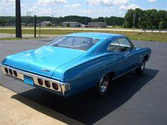 1968 Impala | 1968 CHEVROLET IMPALA SS Lot 738 | Good view of the fastback.