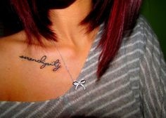 OMG. i've always wanted to get serendipity tattooed and i've never seen anyone actually get it tattooed! love the words, but not so much the placement and font