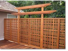 Our unique privacy screens are the ideal way to add privacy to your most valued outdoor living areas.