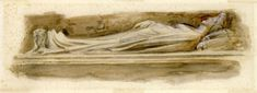 Tomb of Ilaria del Caretto, Lucca Cathedral (c.1874) by John Ruskin
