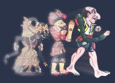 Greek shadow-puppet theatre.  Karagiozis