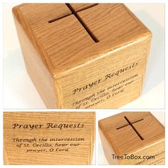 Prayer Request Box And Stand With Form Shelve  Prayer Boxes