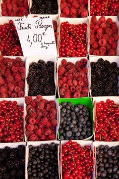 fresh berries at the market, Ilse Sur La Sorque, France