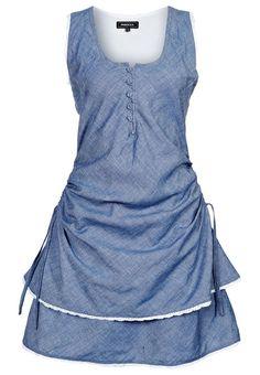 CORINA - Jeanskleid - blue