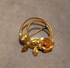 Pin KREMENTZ 3D Rose Flower  Rose & Yellow by StitchInTimeJewelry