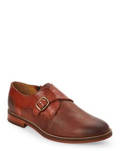 J Shoes Rust Templar Monk Strap Shoes