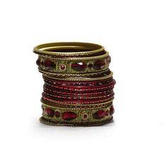 Liquidationprice.com - Bangle Bracelet Sets of 24. Big stone maroon, $3.00 (http://www.liquidationprice.com/bangle-bracelet-sets-of-24-big-stone-maroon/)
