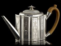 George III Silver | Details about Sterling Silver George III Teapot, London 1792