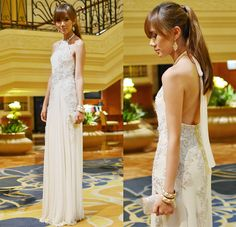A most lovely formal wedding guest outfit.  http://lookbook.nu/look/3748197-White-Lady