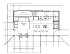 Modern Style House Plan - 1 Beds 1 Baths 727 Sq/Ft Plan #479-12 Floor Plan - Main Floor Plan - Houseplans.com