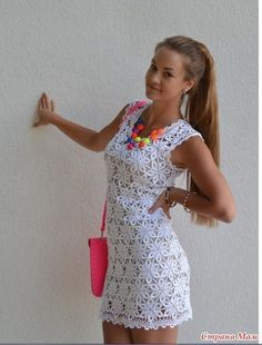 Crochet dress….see pattern, round motif and join as you go……...